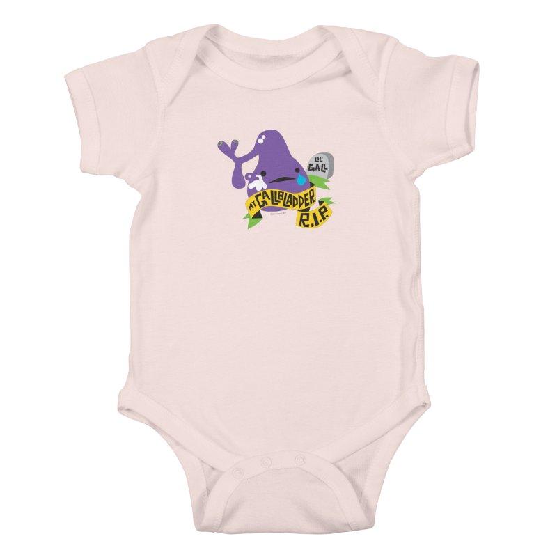 Gallbladder Rest In Peace Kids Baby Bodysuit by I Heart Guts