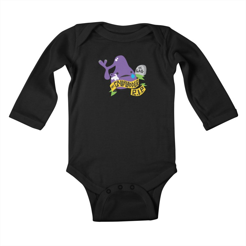 Gallbladder Rest In Peace Kids Baby Longsleeve Bodysuit by I Heart Guts