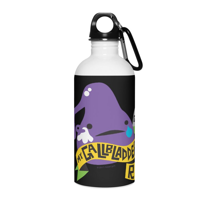 Gallbladder Rest In Peace Accessories Water Bottle by I Heart Guts