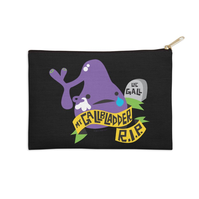 Gallbladder Rest In Peace Accessories Zip Pouch by I Heart Guts
