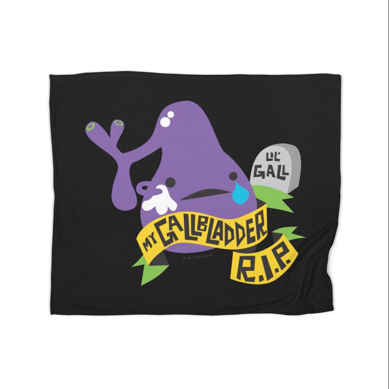 Gallbladder Rest In Peace Home Blanket by I Heart Guts