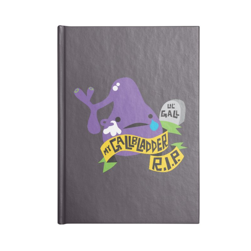 Gallbladder Rest In Peace Accessories Notebook by I Heart Guts