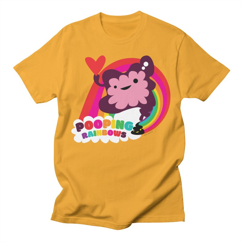 Pooping Rainbows Men's T-Shirt by I Heart Guts