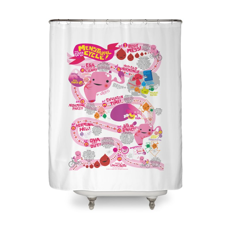 Good Ol' Menstrual Cycle Home Shower Curtain by I Heart Guts