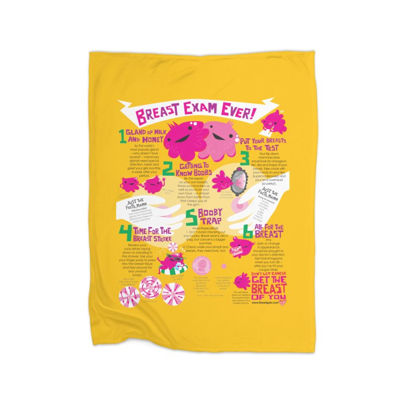 Breast Exam Ever Home Blanket by I Heart Guts