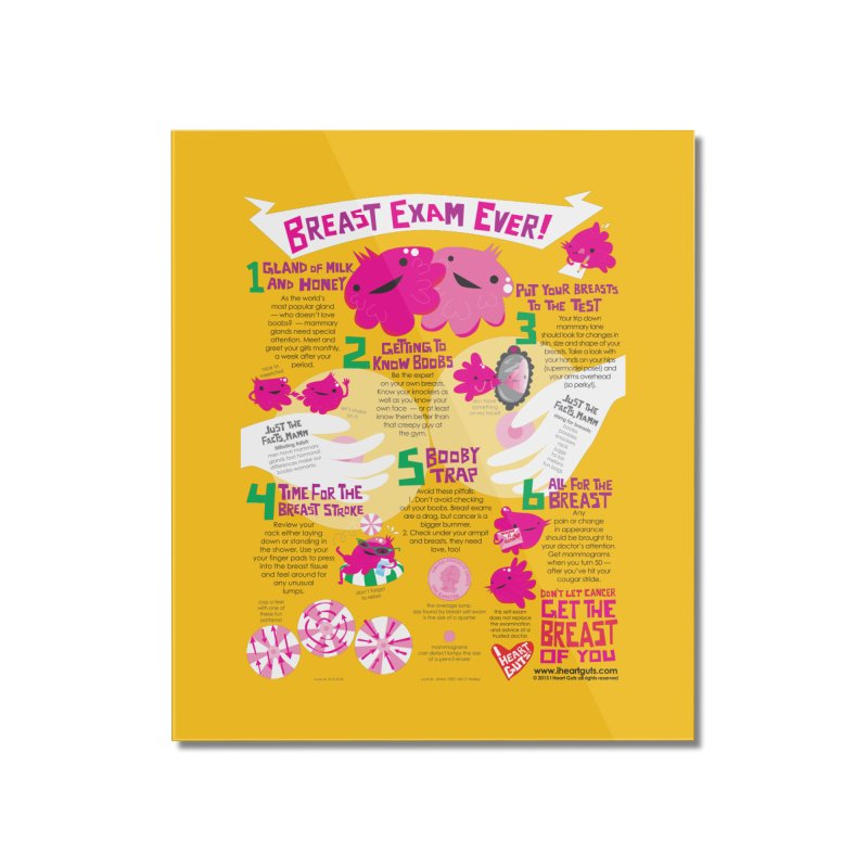 Breast Exam Ever Home Mounted Acrylic Print by I Heart Guts