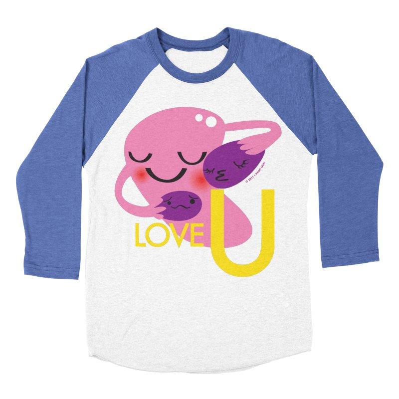 Love U Men's Baseball Triblend T-Shirt by I Heart Guts