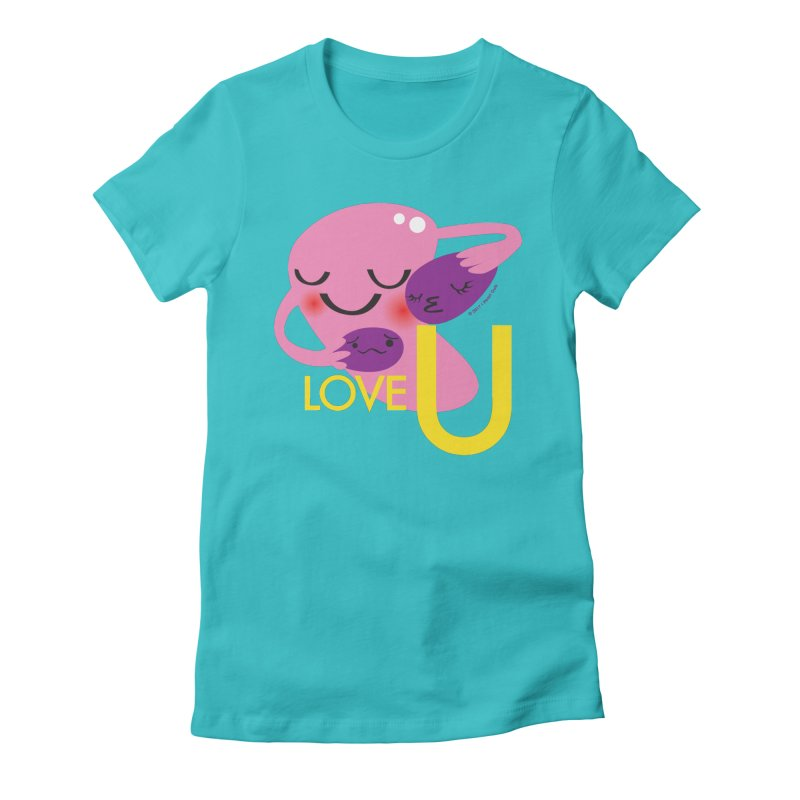 Love U Women's Fitted T-Shirt by I Heart Guts