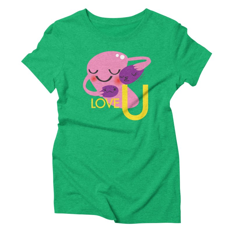 Love U Women's Triblend T-shirt by I Heart Guts