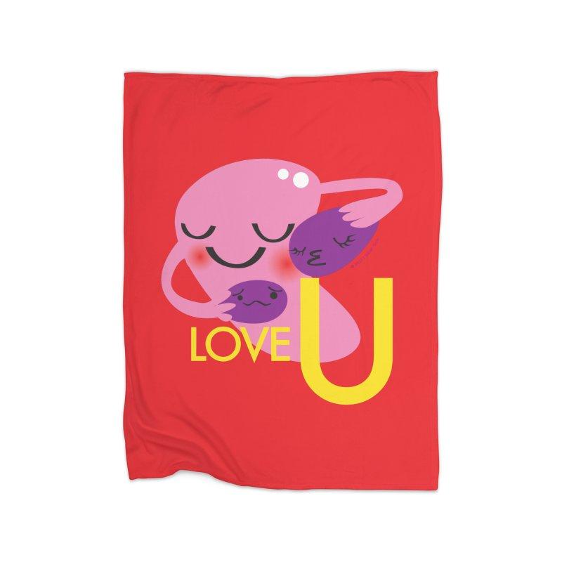 Love U Home Blanket by I Heart Guts