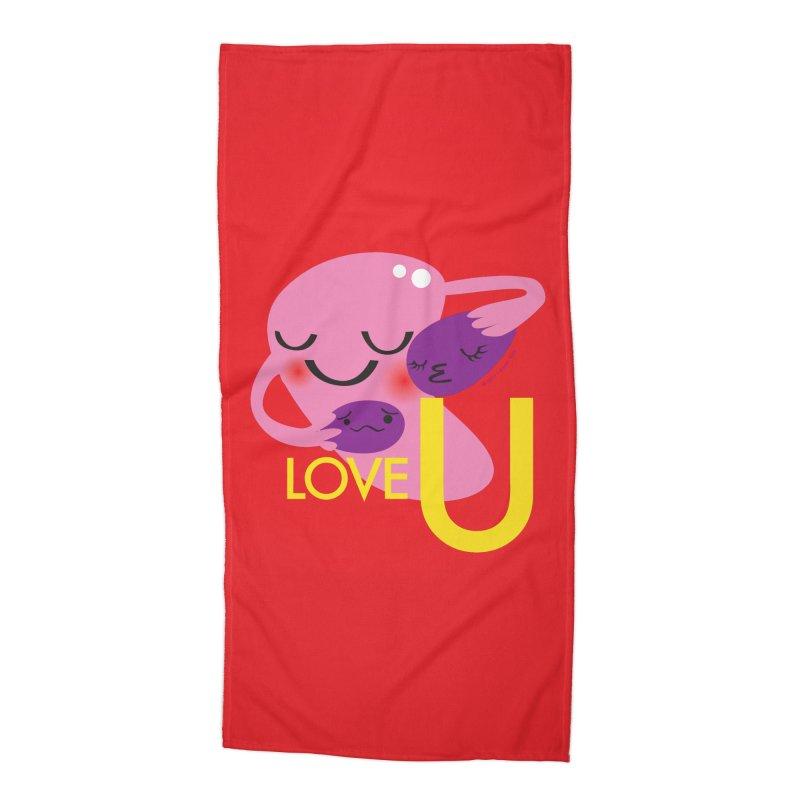 Love U Accessories Beach Towel by I Heart Guts
