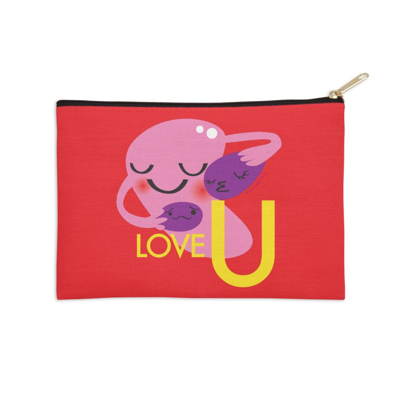 Love U Accessories Zip Pouch by I Heart Guts