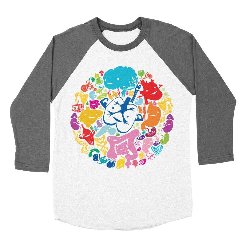 Gutsy Rainbow Men's Baseball Triblend T-Shirt by I Heart Guts