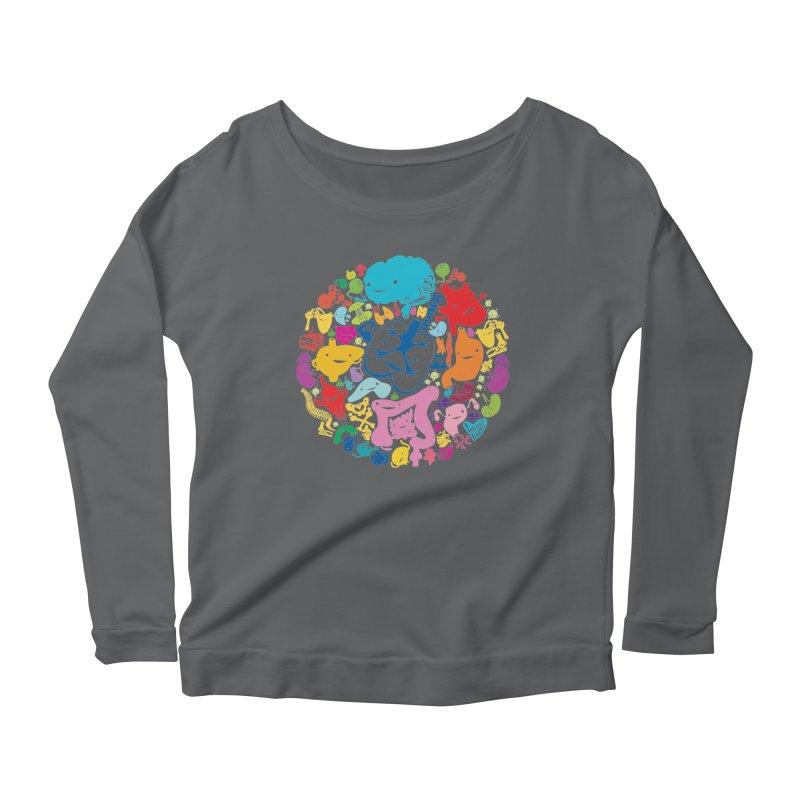 Gutsy Rainbow Women's Longsleeve Scoopneck  by I Heart Guts