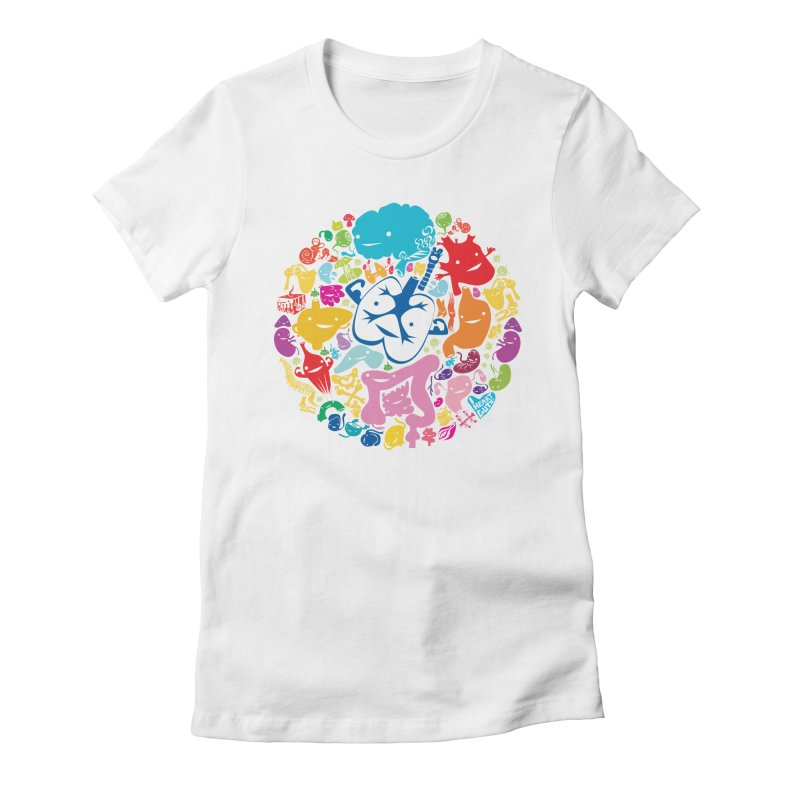 Gutsy Rainbow Women's Fitted T-Shirt by I Heart Guts