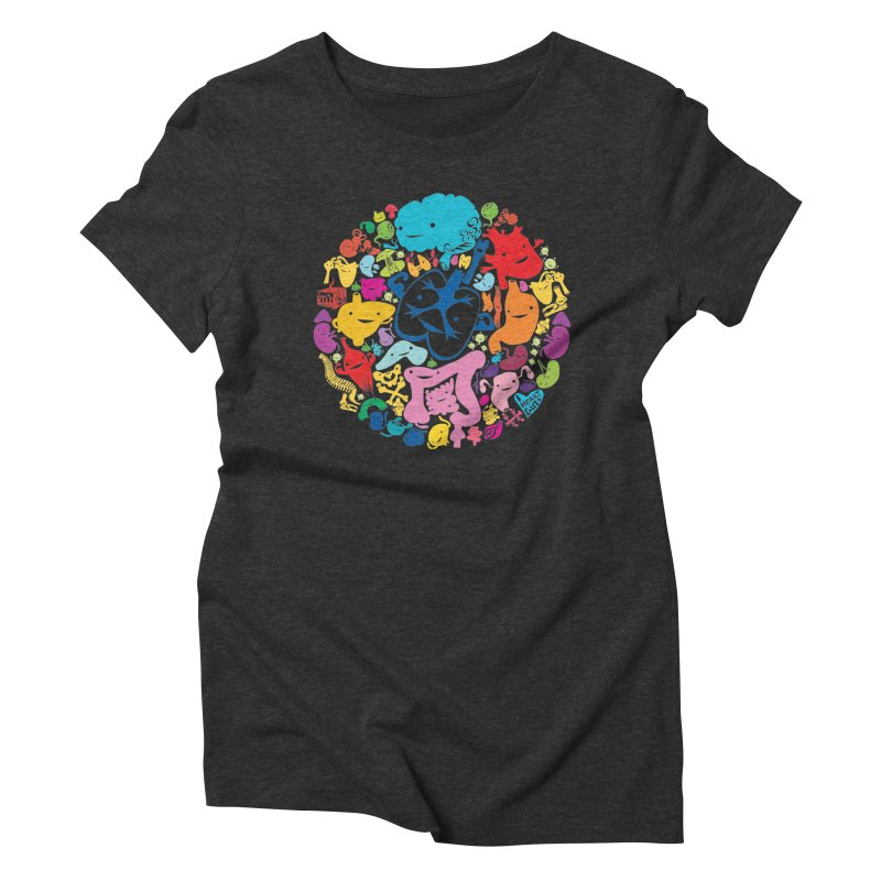Gutsy Rainbow Women's Triblend T-shirt by I Heart Guts