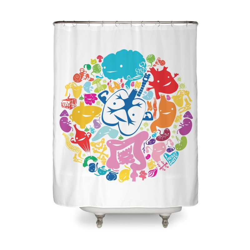 Gutsy Rainbow Home Shower Curtain by I Heart Guts