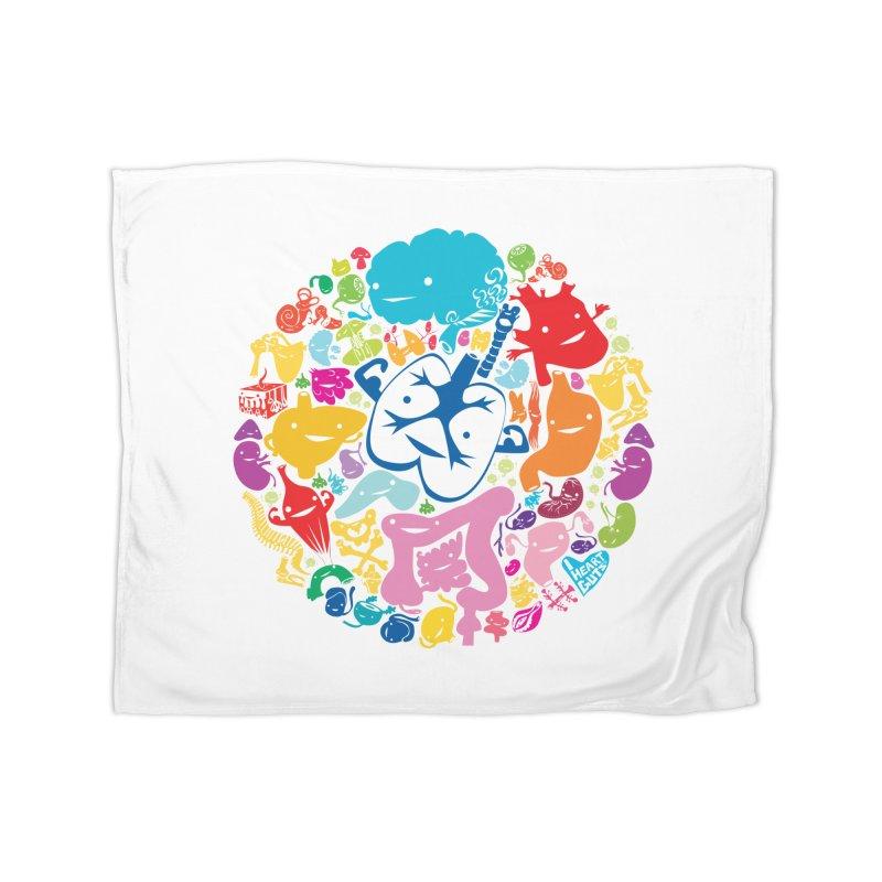 Gutsy Rainbow Home Blanket by I Heart Guts