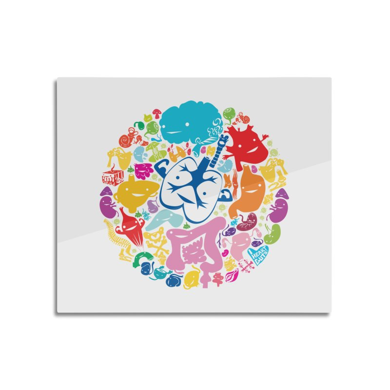 Gutsy Rainbow Home Mounted Acrylic Print by I Heart Guts