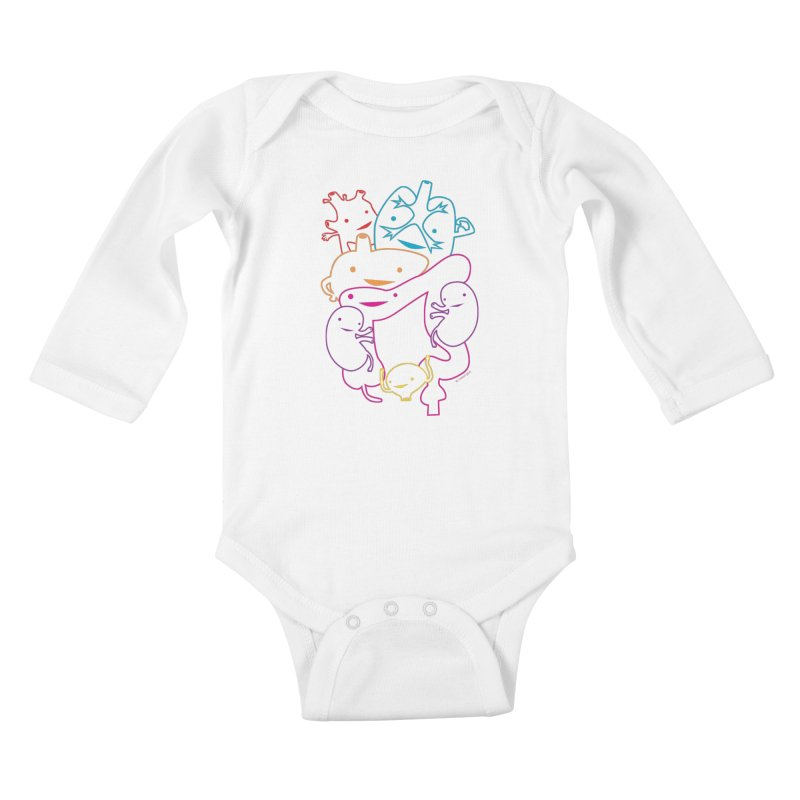 Guts Gang Kids Baby Longsleeve Bodysuit by I Heart Guts