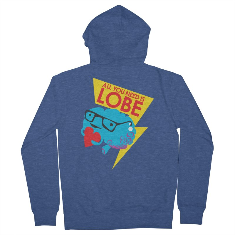 All You Need is Lobe - Brain Men's Zip-Up Hoody by I Heart Guts