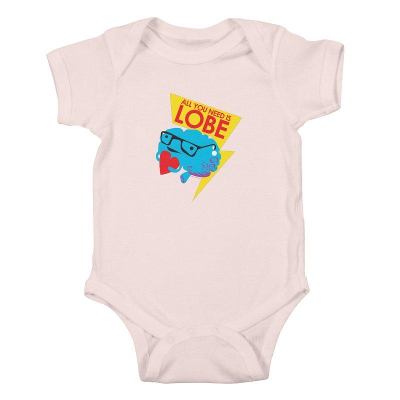 All You Need is Lobe - Brain Kids Baby Bodysuit by I Heart Guts