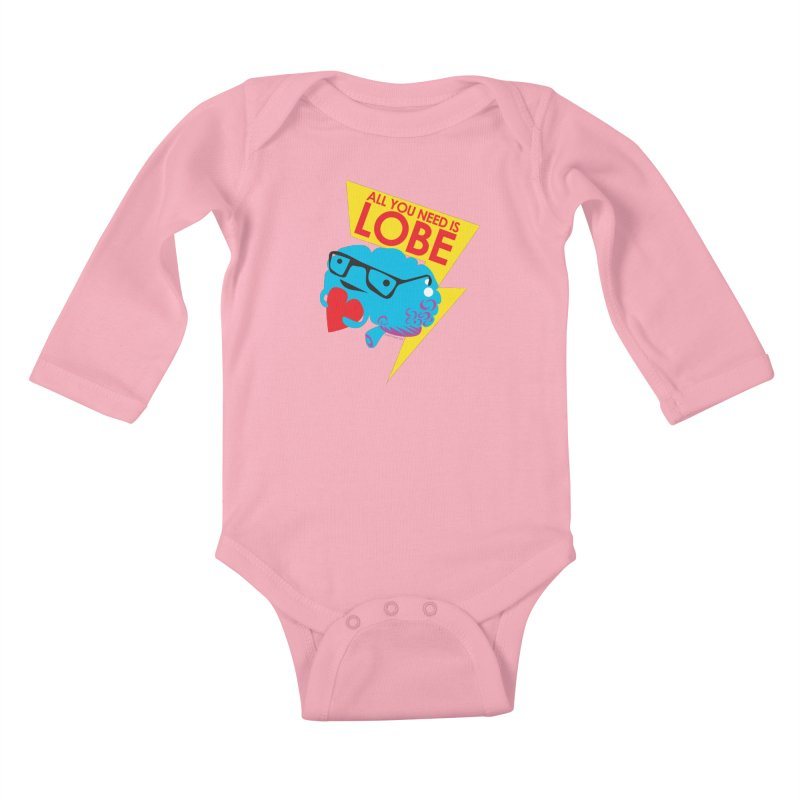 All You Need is Lobe - Brain Kids Baby Longsleeve Bodysuit by I Heart Guts