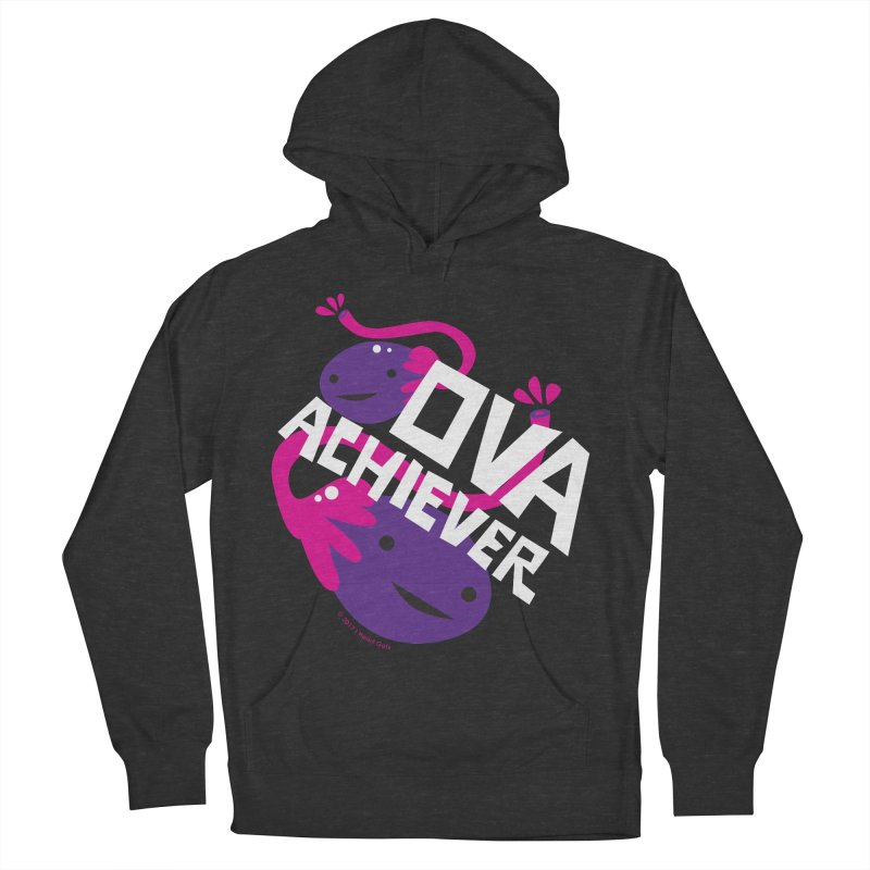 Ova Achiever - Ovary in Women's Pullover Hoody Smoke by I Heart Guts