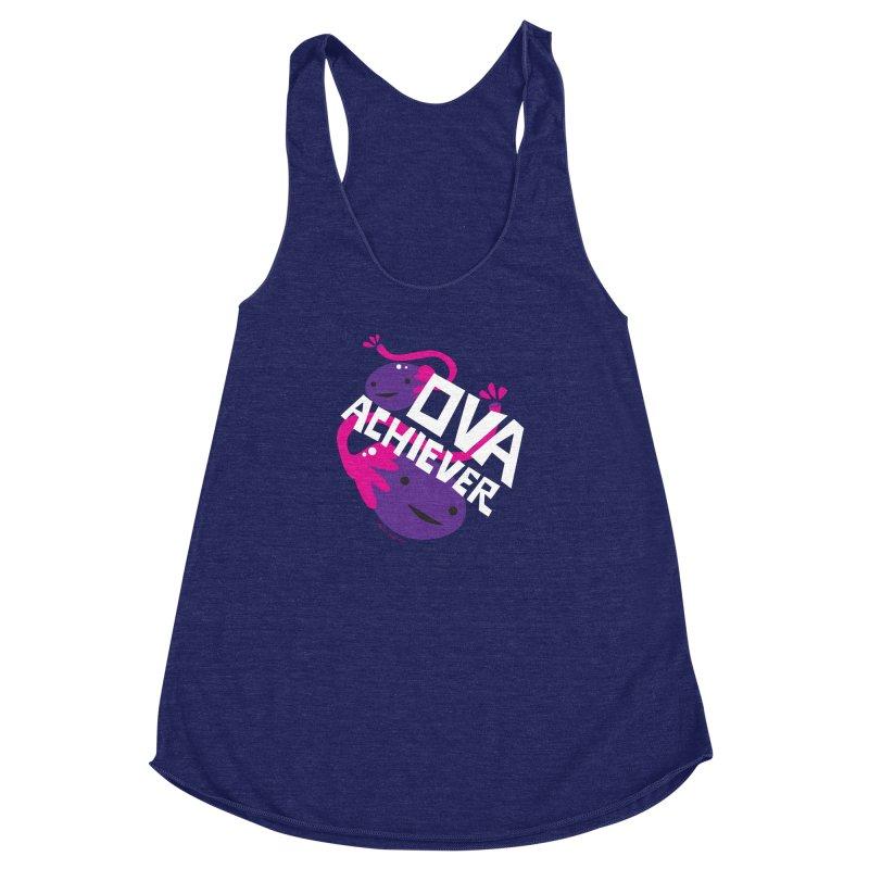 Ova Achiever - Ovary Women's Racerback Triblend Tank by I Heart Guts