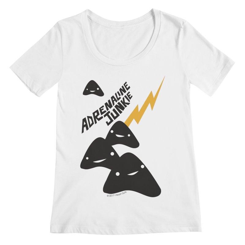 Adrenaline Junkie - Adrenal Glands Women's Scoopneck by I Heart Guts