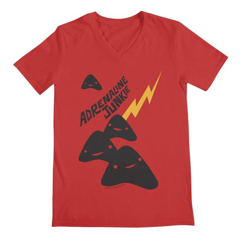 Adrenaline Junkie - Adrenal Glands Men's V-Neck by I Heart Guts
