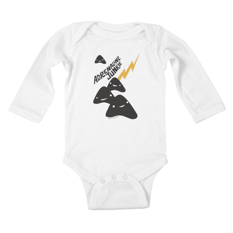 Adrenaline Junkie - Adrenal Glands Kids Baby Longsleeve Bodysuit by I Heart Guts