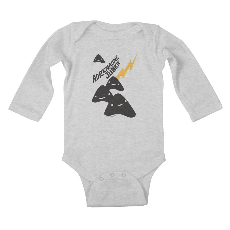 Adrenaline Junkie - Adrenal Glands Kids Baby Longsleeve Bodysuit by I Heart Guts