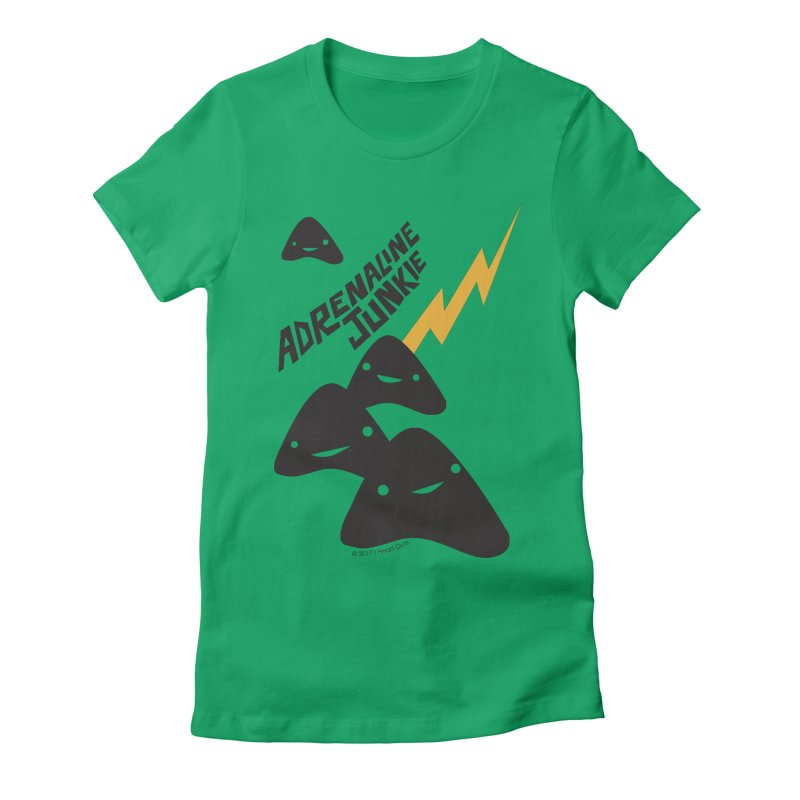 Adrenaline Junkie - Adrenal Glands Women's Fitted T-Shirt by I Heart Guts