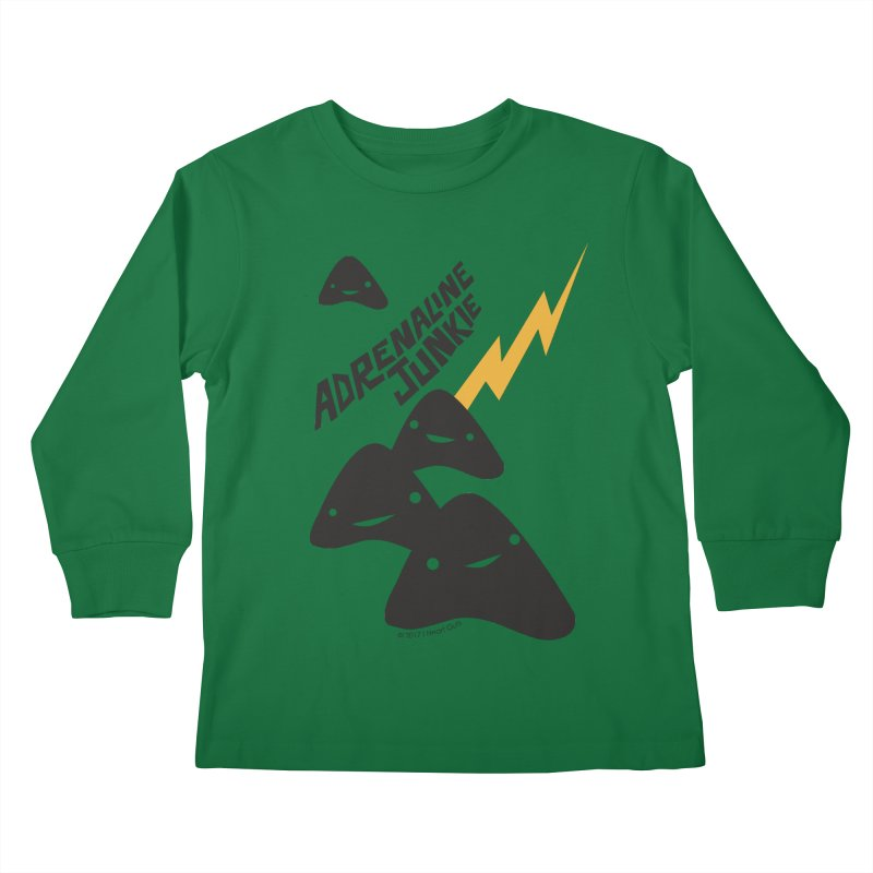 Adrenaline Junkie - Adrenal Glands Kids Longsleeve T-Shirt by I Heart Guts
