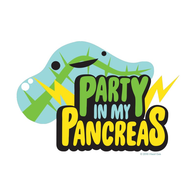 Party in My Pancreas Men's T-Shirt by I Heart Guts