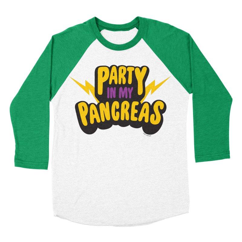 Party in My Pancreas Women's Baseball Triblend T-Shirt by I Heart Guts