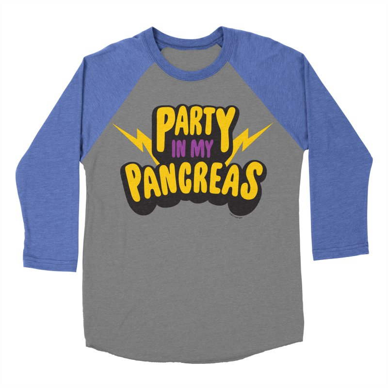 Party in My Pancreas Women's Baseball Triblend T-Shirt by I Heart Guts