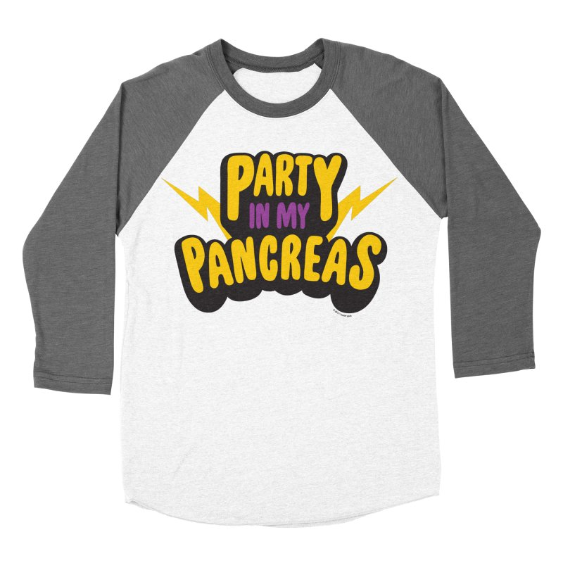 Party in My Pancreas Men's Baseball Triblend T-Shirt by I Heart Guts