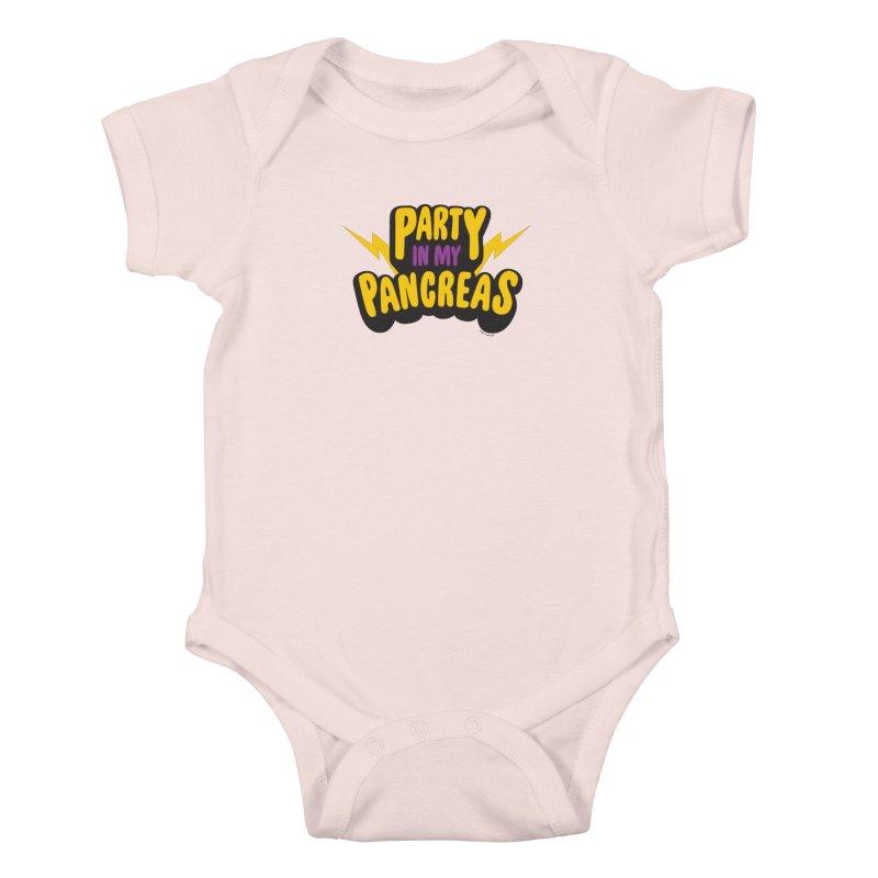 Party in My Pancreas Kids Baby Bodysuit by I Heart Guts