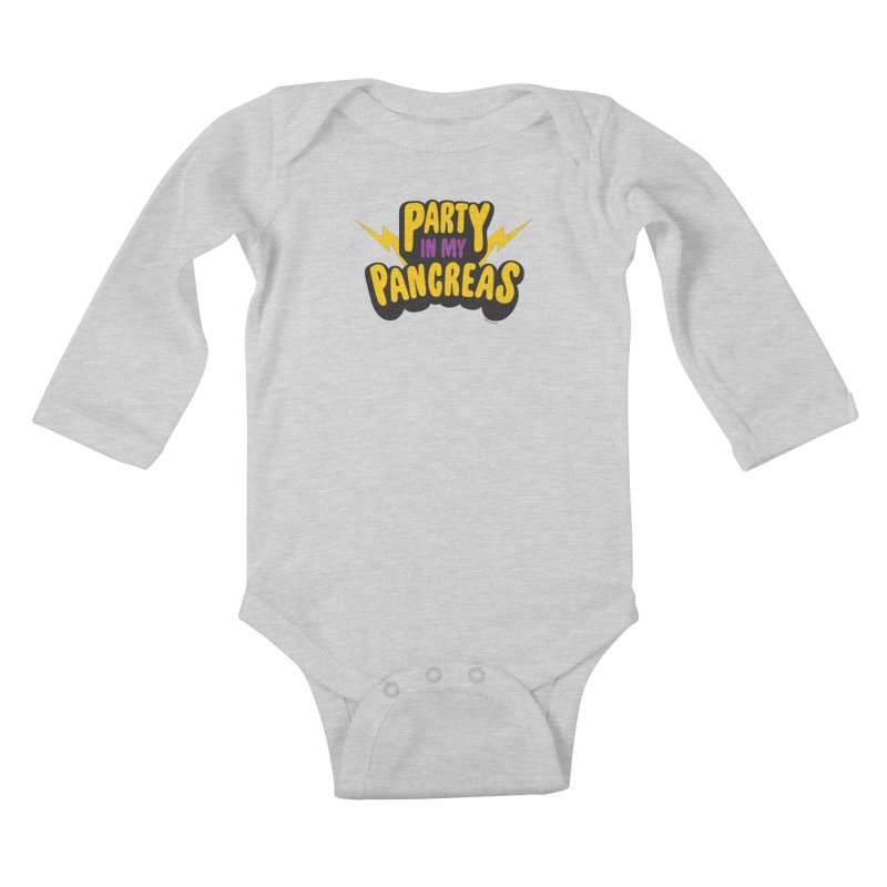 Party in My Pancreas Kids Baby Longsleeve Bodysuit by I Heart Guts