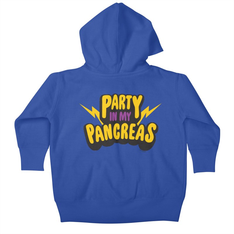 Party in My Pancreas Kids Baby Zip-Up Hoody by I Heart Guts