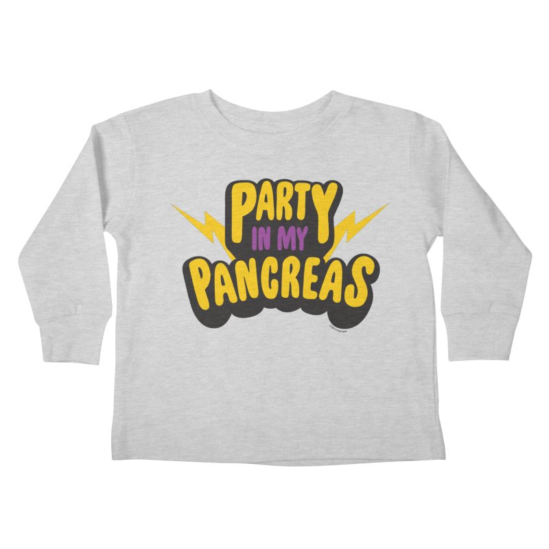 Party in My Pancreas Kids Toddler Longsleeve T-Shirt by I Heart Guts