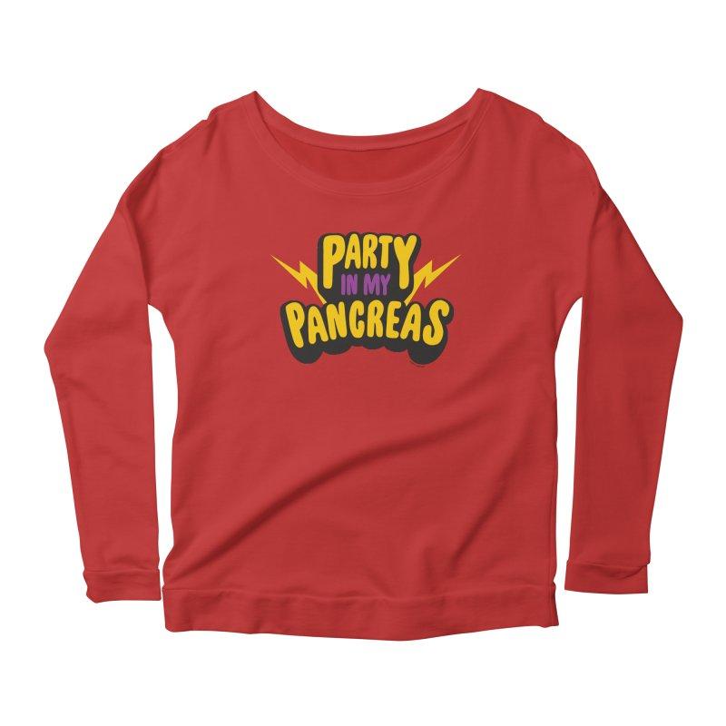 Party in My Pancreas Women's Longsleeve Scoopneck  by I Heart Guts
