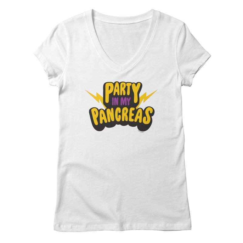 Party in My Pancreas Women's V-Neck by I Heart Guts