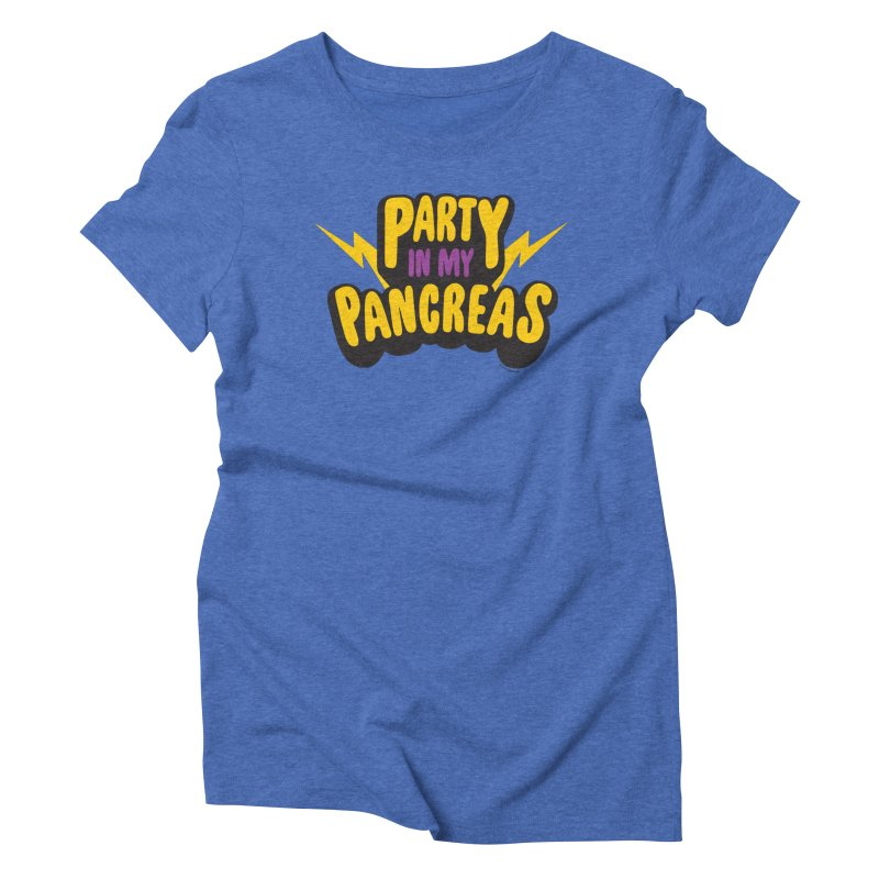 Party in My Pancreas Women's Triblend T-Shirt by I Heart Guts