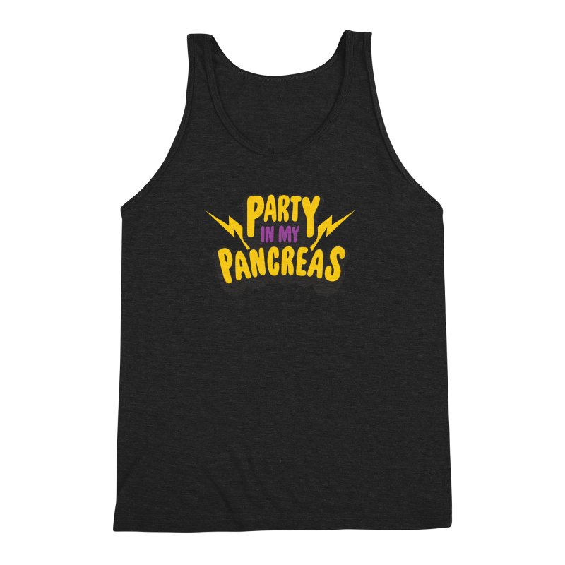 Party in My Pancreas Men's Triblend Tank by I Heart Guts