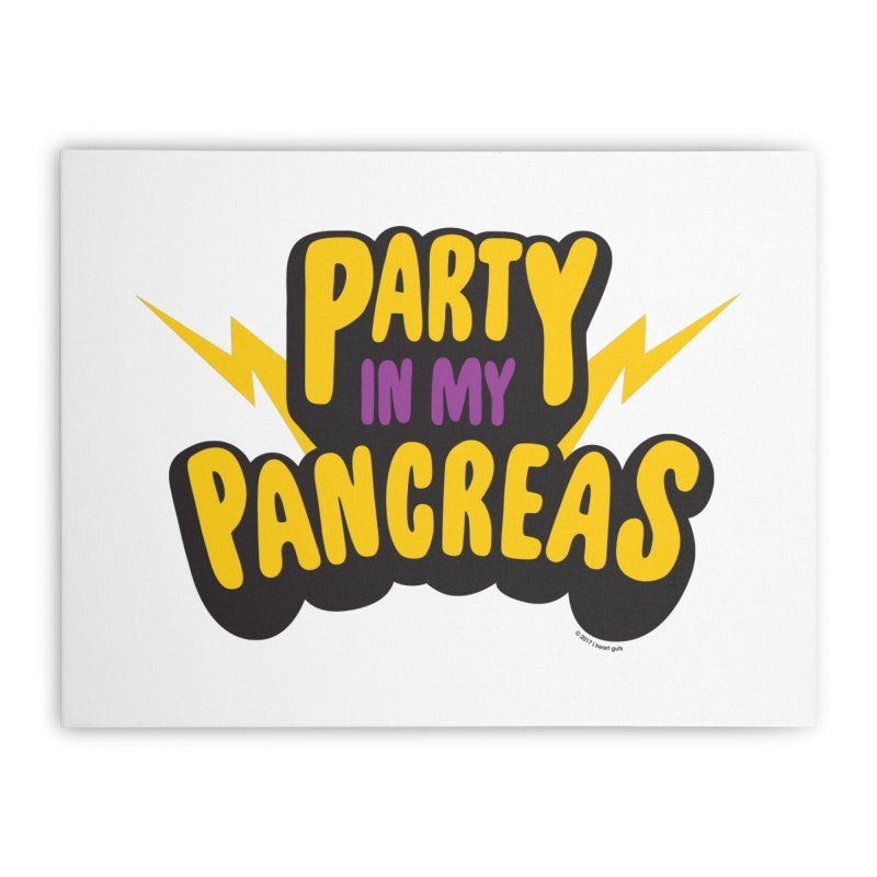 Party in My Pancreas Home Stretched Canvas by I Heart Guts