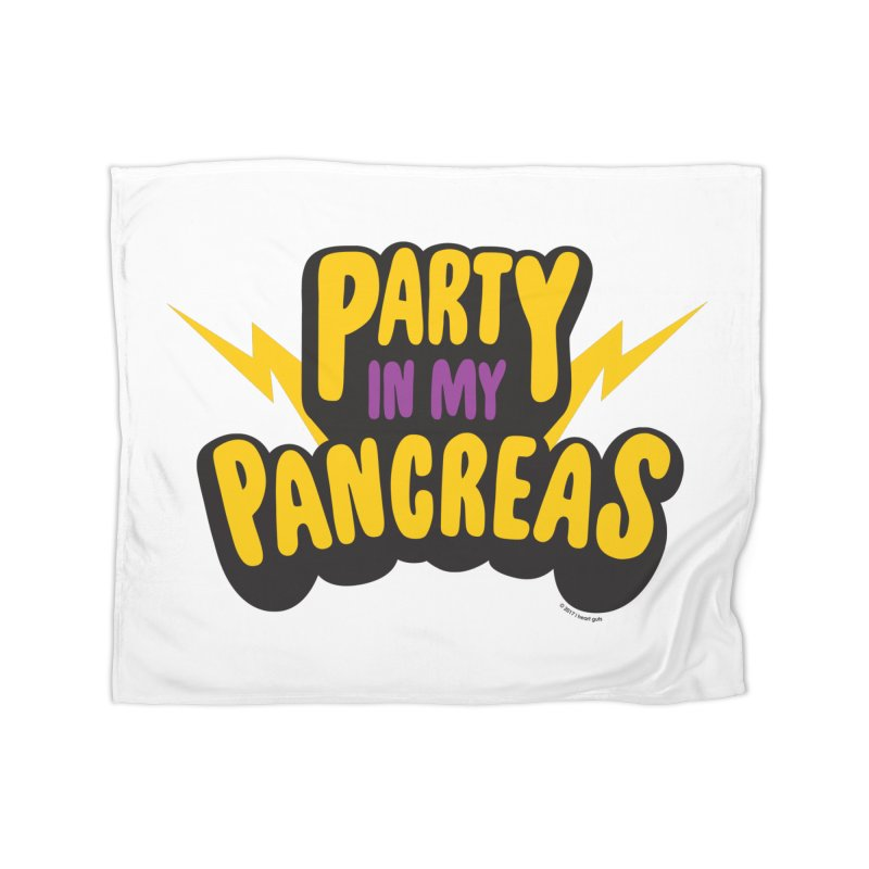 Party in My Pancreas Home Blanket by I Heart Guts