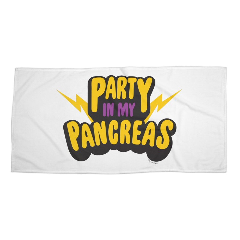 Party in My Pancreas Accessories Beach Towel by I Heart Guts